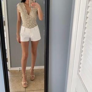 White Bebe shorts